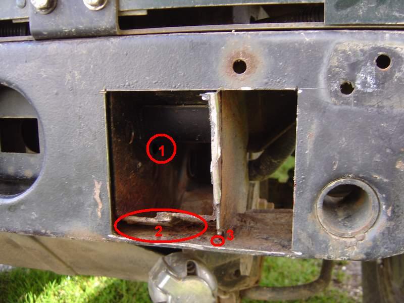 Remise en état d'une Traverse Arrière de DEFENDER Ts12b